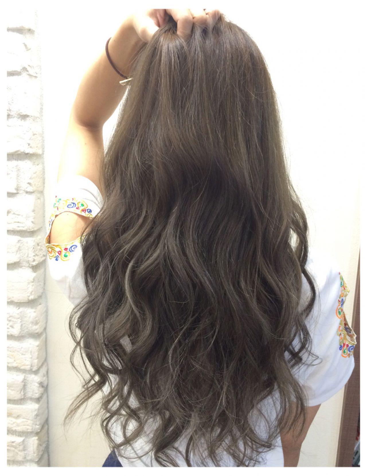 【ロング編】秋冬はこの色で決まり♡アッシュで作る暗髪が可愛すぎる 西野綾希子 / hair Mission
