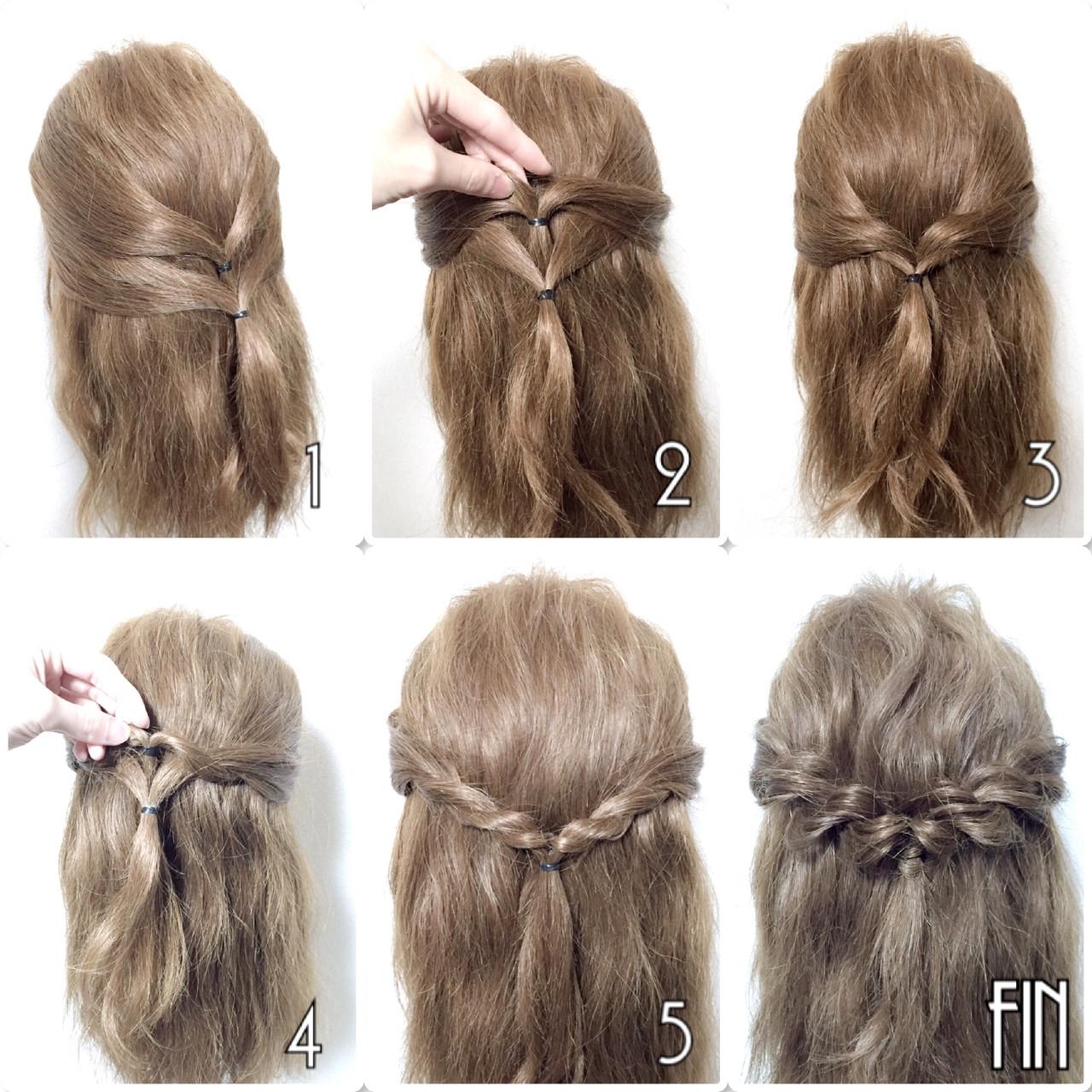 片側ずつねじるのが難しい!そんな方には特におすすめ! 両サイドの耳上から髪を後ろに持ってきて\u2026 \u203bこの時トップの髪を巻きこまないよう注意!