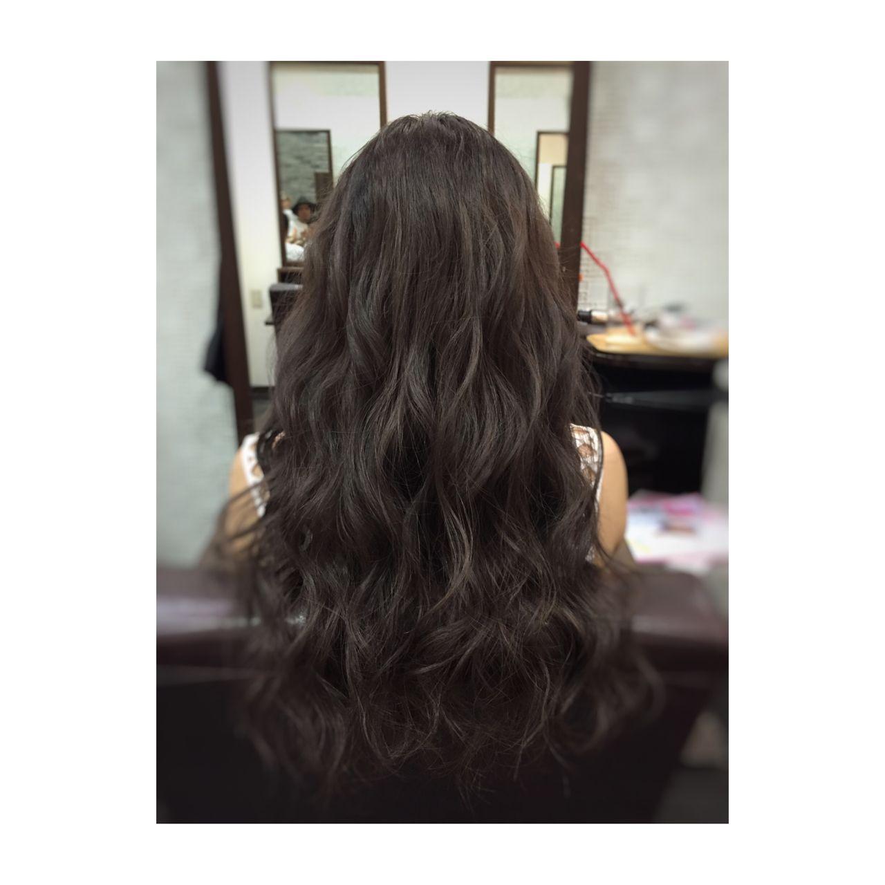 【ロング編】秋冬はこの色で決まり♡アッシュで作る暗髪が可愛すぎる 大石 悠人