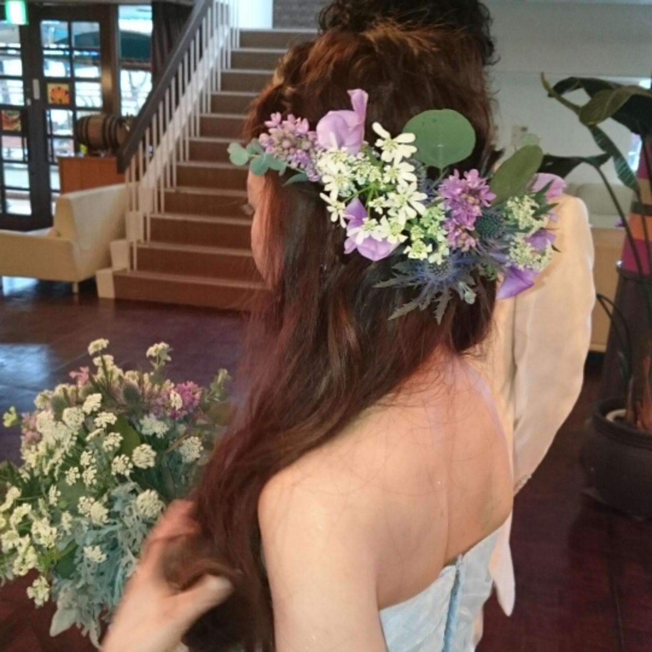 最高に華やかな花嫁さんになるために*お花で飾る結婚式ヘアアレンジ♡ 美和遥 FITZ(フィッツ)