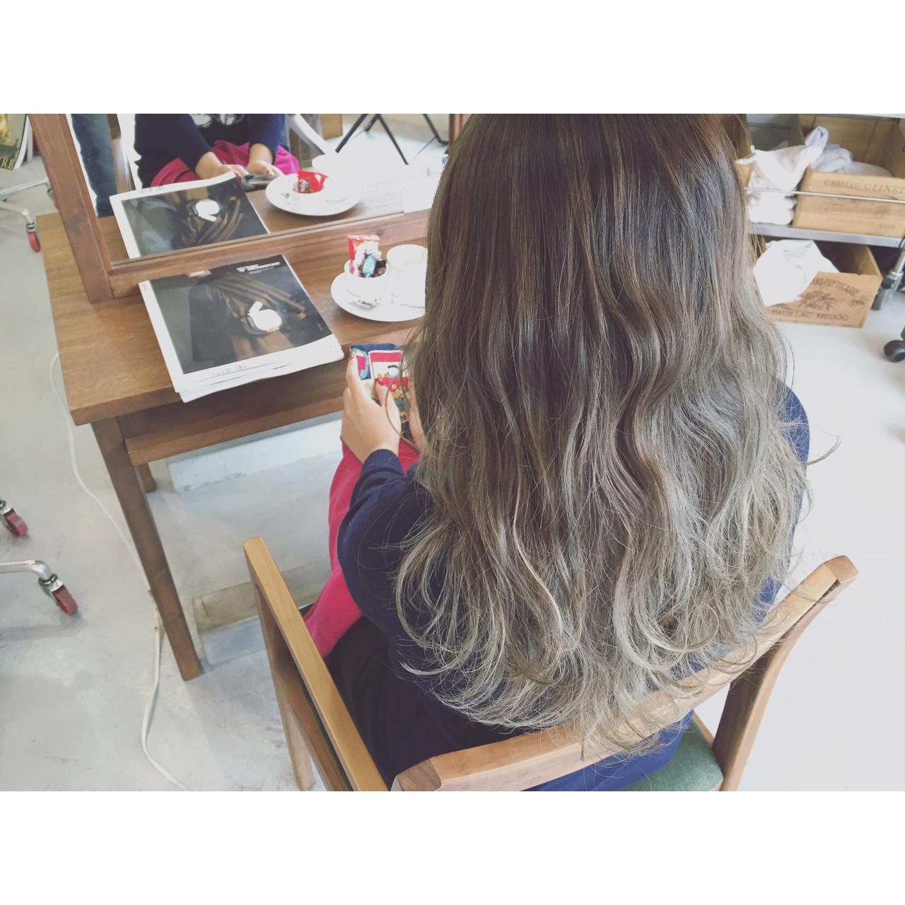 大注目の暗髪×グラデーションまとめ♡ポイントは毛先とハイライト 原木翔太