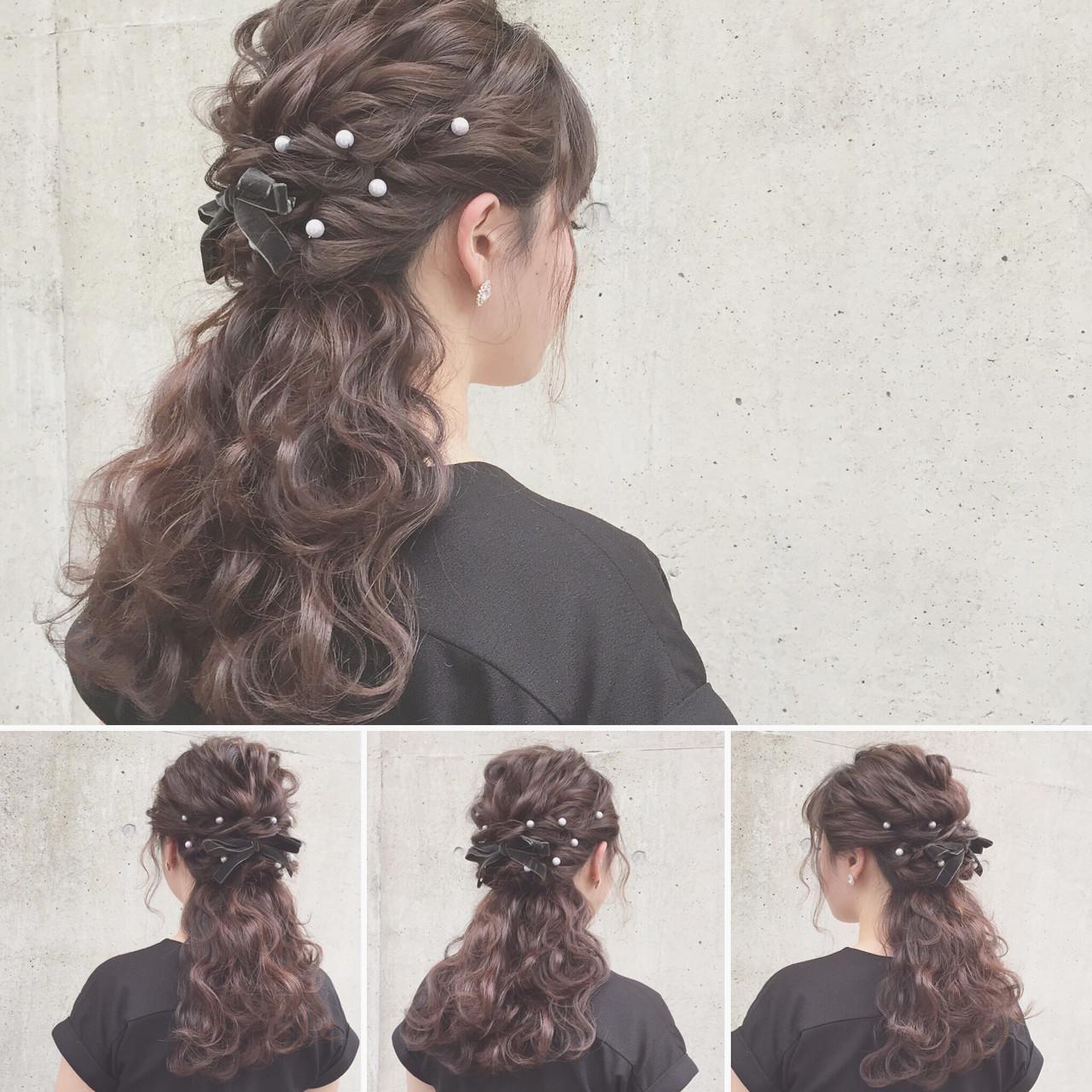 ミディアムのヘアアレンジならお手軽ハーフアップ♪シチュ別簡単テク Kaneko Mayumi