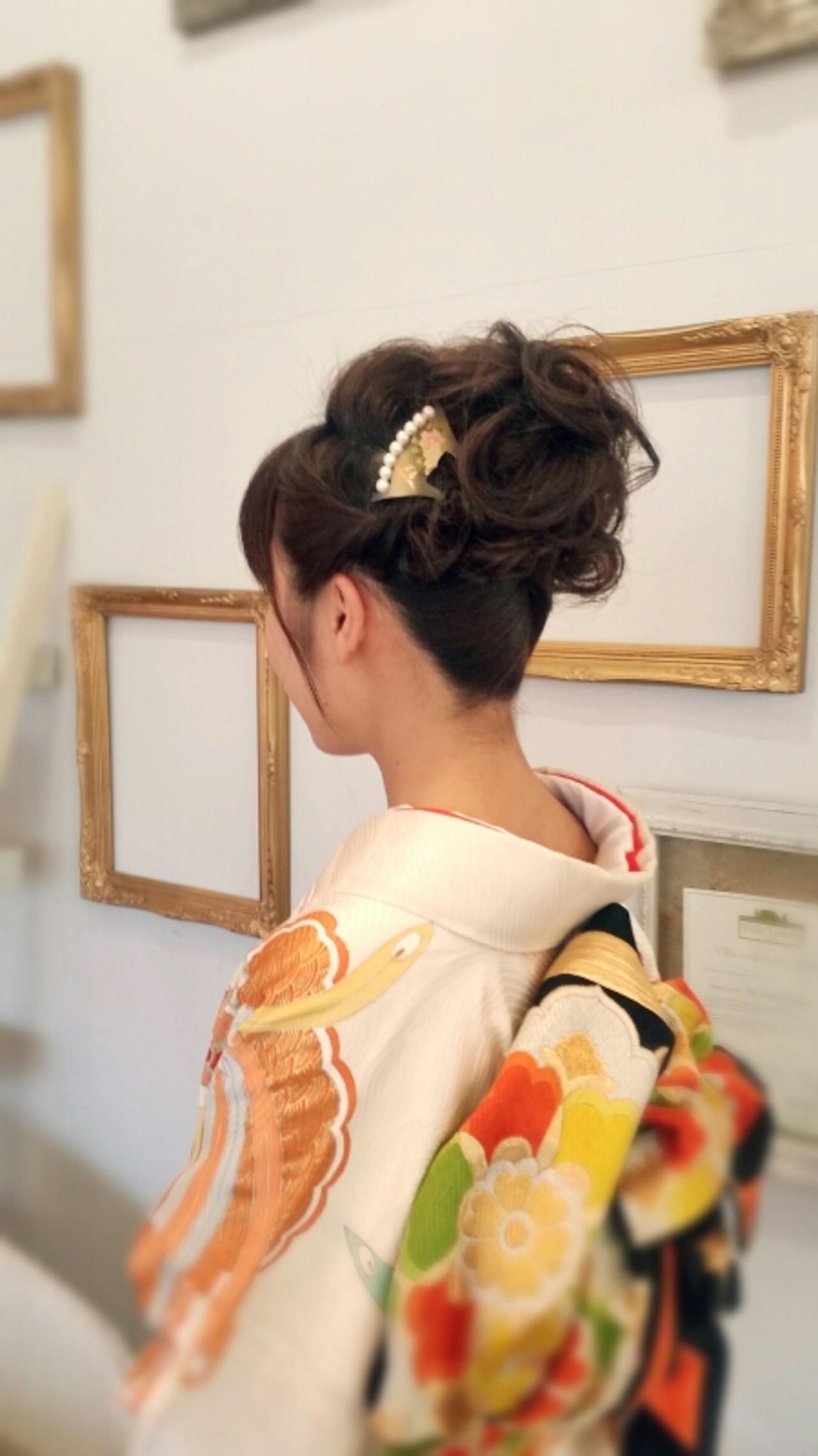 大切にしたい和の心。着物ヘアアレンジをご堪能ください♡ Yuta Kikuchi