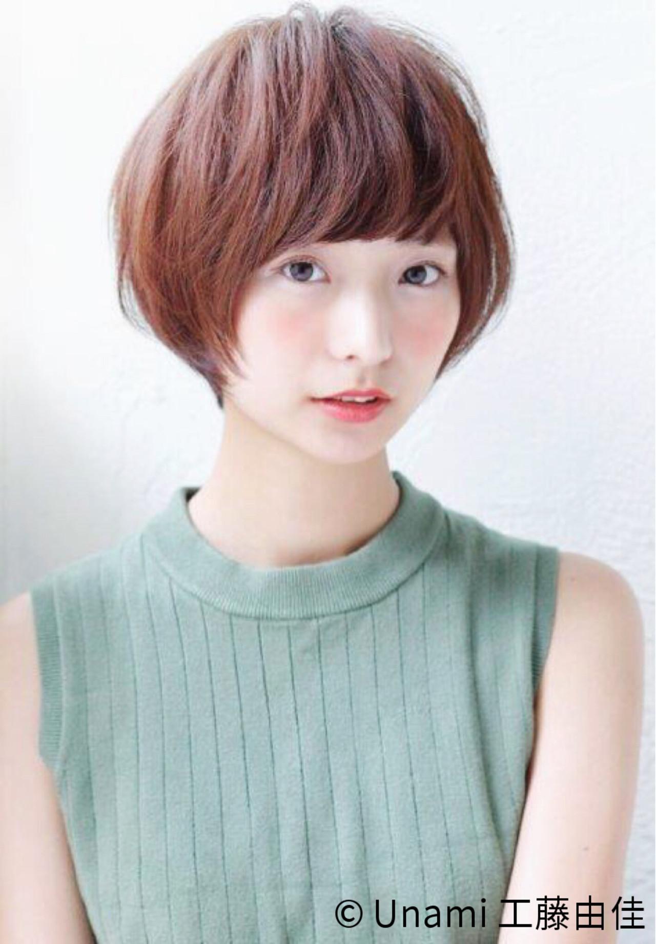 【丸顔さんに似合う髪型】ひし形シルエットの小顔効果でより可愛く♡ Unami 工藤由佳