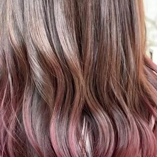 バレイヤージュ 外国人風カラー ロング ガーリー ヘアスタイルや髪型の写真・画像