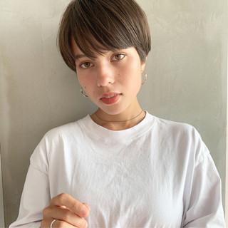 透明感 ナチュラル ショートボブ 外国人風 ヘアスタイルや髪型の写真・画像