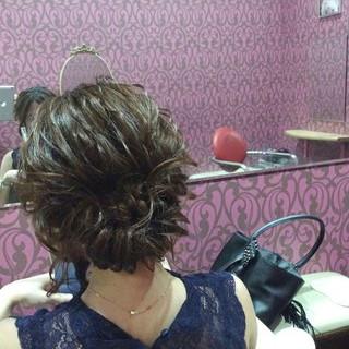 エレガント 結婚式 上品 ボブ ヘアスタイルや髪型の写真・画像