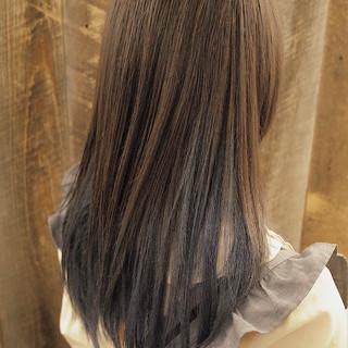 インナーブルー フェミニン ブルージュ ブルー ヘアスタイルや髪型の写真・画像