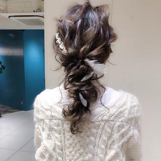 ナチュラル ヘアアレンジ 大人かわいい ロング ヘアスタイルや髪型の写真・画像