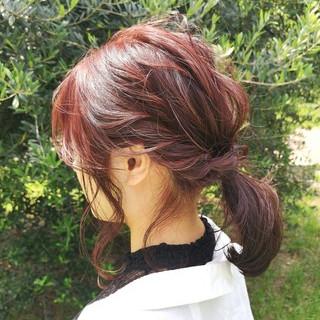 ヘアアレンジ 簡単ヘアアレンジ 大人かわいい ミディアム ヘアスタイルや髪型の写真・画像