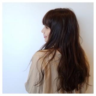 女子力 秋 透明感 セミロング ヘアスタイルや髪型の写真・画像