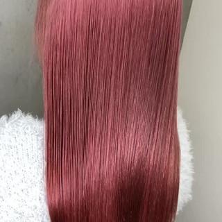 ピンク ピンクブラウン ピンクアッシュ ガーリー ヘアスタイルや髪型の写真・画像
