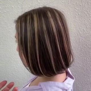 ミルクティー ミルクティーベージュ ボブ グレージュ ヘアスタイルや髪型の写真・画像
