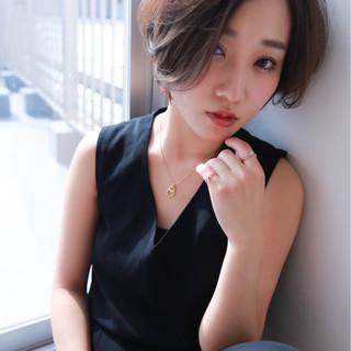 ショート 色気 モード かっこいい ヘアスタイルや髪型の写真・画像