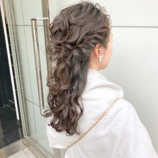 デート オフィス ナチュラル 結婚式 ヘアスタイルや髪型の写真・画像