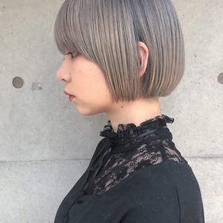 モード ボブ ショートヘア ショートボブ ヘアスタイルや髪型の写真・画像