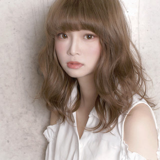秋 ロング フェミニン モテ髪 ヘアスタイルや髪型の写真・画像