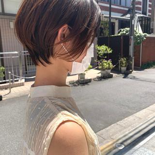 ショートボブ オフィス 大人女子 大人かわいい ヘアスタイルや髪型の写真・画像
