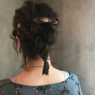 簡単ヘアアレンジ ヘアアレンジ 大人かわいい ナチュラル ヘアスタイルや髪型の写真・画像