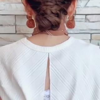 デート ヘアアレンジ 結婚式 ロング ヘアスタイルや髪型の写真・画像