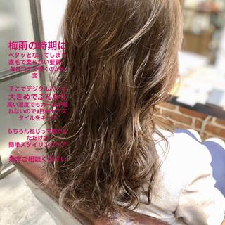 簡単ヘアアレンジ パーマ イルミナカラー デジタルパーマ ヘアスタイルや髪型の写真・画像