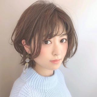 ショートボブ 美シルエット ショート コンサバ ヘアスタイルや髪型の写真・画像