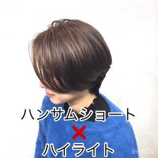 ナチュラル ハンサムショート トレンド ショート ヘアスタイルや髪型の写真・画像