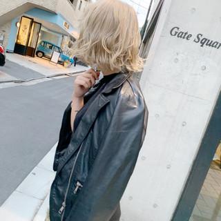 ハイトーン 外国人風カラー かわいい ボブ ヘアスタイルや髪型の写真・画像