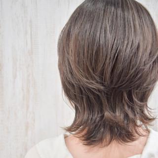 大人ハイライト ウルフカット ショート 3Dハイライト ヘアスタイルや髪型の写真・画像