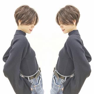 デート ショート アンニュイほつれヘア ハンサムショート ヘアスタイルや髪型の写真・画像