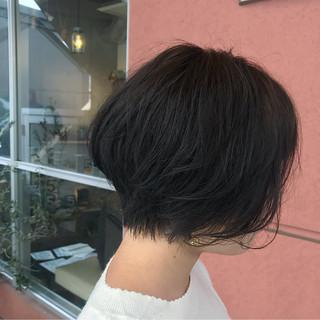 小顔 アウトドア ショートボブ 女子力 ヘアスタイルや髪型の写真・画像