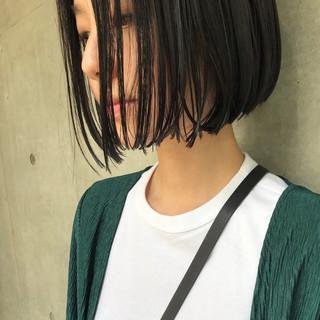 モード パーマ デート 黒髪 ヘアスタイルや髪型の写真・画像