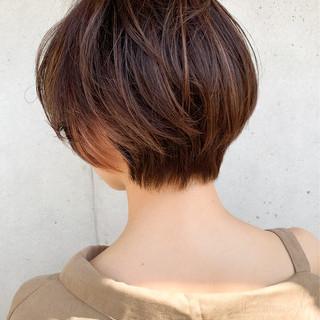 ショート ベリーショート インナーカラー ショートヘア ヘアスタイルや髪型の写真・画像