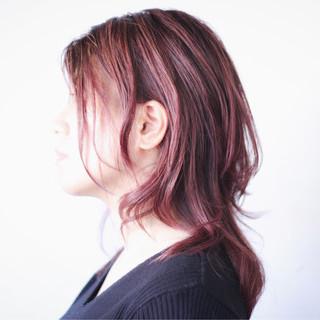 ベリーピンク ピンクバイオレット ピンクラベンダー ラベンダーピンク ヘアスタイルや髪型の写真・画像