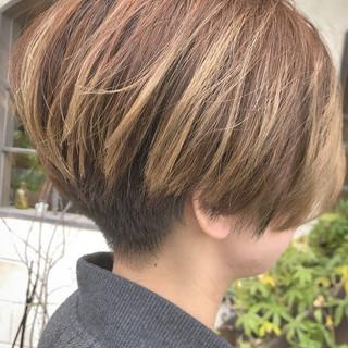 モード ショートマッシュ 刈り上げ女子 ショート ヘアスタイルや髪型の写真・画像
