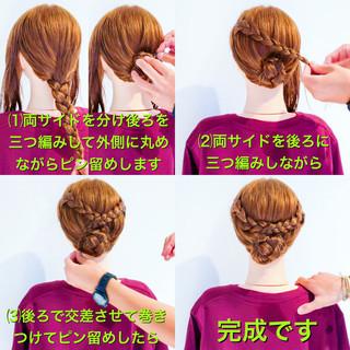 エレガント ヘアアレンジ アウトドア 簡単ヘアアレンジ ヘアスタイルや髪型の写真・画像