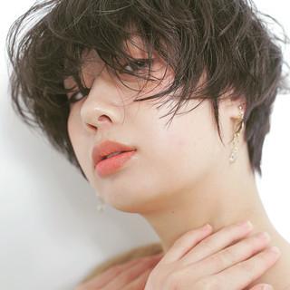 ショートボブ 黒髪 ショートヘア ショート ヘアスタイルや髪型の写真・画像