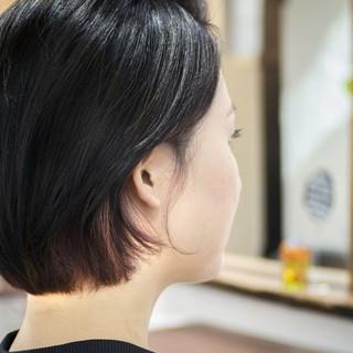 切りっぱなしボブ 黒髪 ボブ 大人かわいい ヘアスタイルや髪型の写真・画像