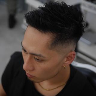 メンズヘア ショート スキンフェード ストリート ヘアスタイルや髪型の写真・画像