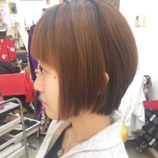 大人女子 ボブ ショート 簡単 ヘアスタイルや髪型の写真・画像