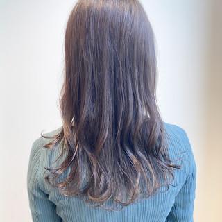グレージュ ミルクティーベージュ 透明感カラー ミルクティーグレージュ ヘアスタイルや髪型の写真・画像