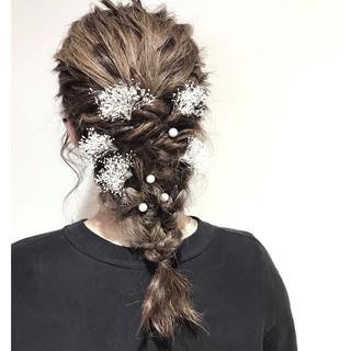 ナチュラル ミディアム 成人式 デート ヘアスタイルや髪型の写真・画像