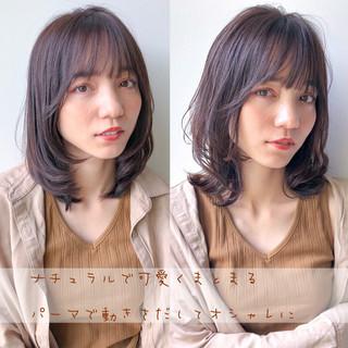 ヘアアレンジ ナチュラル ミディアム ミディアムレイヤー ヘアスタイルや髪型の写真・画像