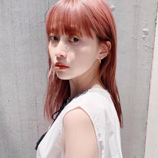 ナチュラル ベリーピンク ピンクブラウン ピンクベージュ ヘアスタイルや髪型の写真・画像