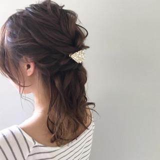 エフォートレス フェミニン ヘアアレンジ 結婚式 ヘアスタイルや髪型の写真・画像