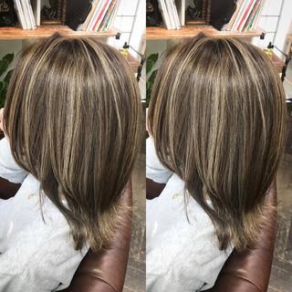 ヘアアレンジ 外国人風カラー 上品 ハイライト ヘアスタイルや髪型の写真・画像