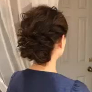 デート パーティ ロング 結婚式 ヘアスタイルや髪型の写真・画像