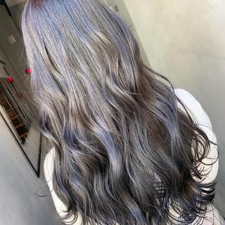 アンニュイほつれヘア アッシュグレージュ ブルージュ ロング ヘアスタイルや髪型の写真・画像