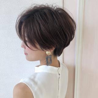 ショートヘア ハンサムショート ショート ナチュラル ヘアスタイルや髪型の写真・画像