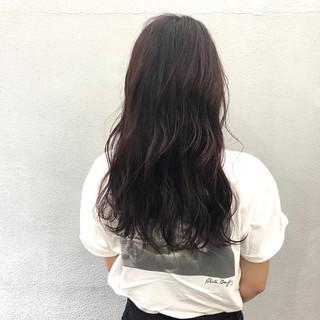 ピンクバイオレット ナチュラル 簡単スタイリング ベリーピンク ヘアスタイルや髪型の写真・画像